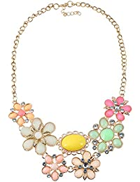 TBOP NECKLACE THE BEST OF PLANET Simple And Stylish Jewelry Fresh Leaves Flower Sunflowers Necklace In Multi-color
