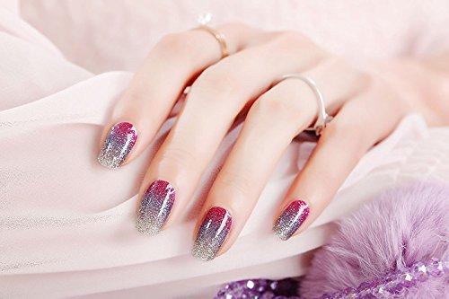 DUYUER einfach, selbstklebend, langanhaltend Nagelstiker,Nagelfolien, Nailwrap,Nailstickers, Nagel-Aufklebe,elegantes Design, Nailart, Aufkleber/ 20stk. Packung, (Lavendel)