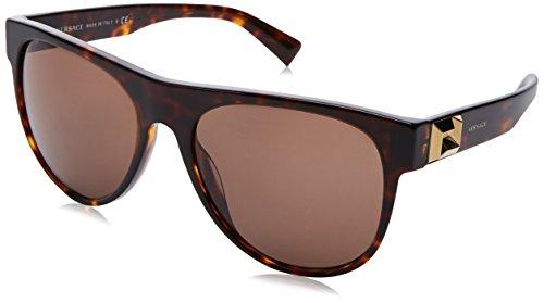 Versace Herren 0VE4346 108/73 57 Sonnenbrille, Braun (Havana/Brown),