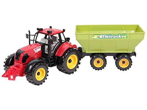 Trecker Traktor Spielzeug groß Fahrzeug mit Anhänger Spielzeugtraktor 46 cm lang von ALSINO, Variante wählen:8139 Modell 1