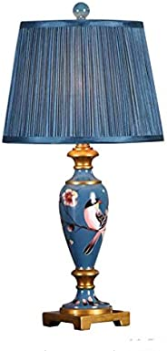 NDHUR Vintage Luxury classical table lamp,European Retro Hand-Painted Wooden Table lamp,American Simple Color