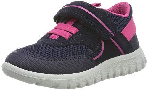 Superfit Baby Mädchen SPORT7 MINI-50619681 Sneaker, Grau (Blau/Rosa 81), 24 EU
