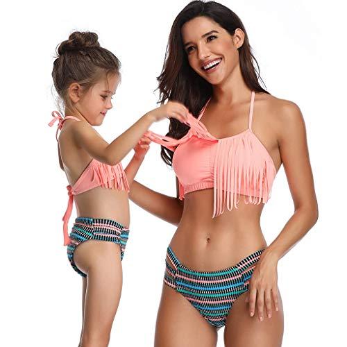 fd15c2b16aa27b FORTR HOME Kanpola Madre e figlia Stampa Sexy Costume da bagno due pezzi  Abbinamento Costume da