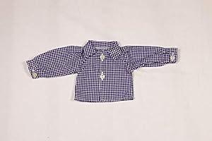 Camisa para muñecas Sturm 0925-1, diseño a Cuadros, Color Azul