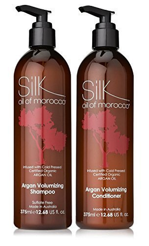 Soie Huile du Marocain Volumateur Après-shampooing et volumateur shampooing shampooing et après-shampooing Ensemble Argan Oil après-shampooing,ARGAN OIL shampooing,Sans Sulfates après-shampooing