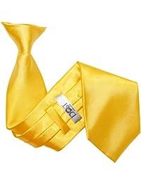 DQT Plain Satin Men's Clip-On Classic Standard Easy Wear Tie