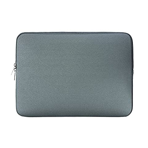 Rainyear 13.3 Inch Protective Soft Neoprene Laptop Sleeve Case Slim Fit Padded Bag For 13-13.3 Inch Notebook/Macbook/Tablet/Ultrabook Of Apple/Acer/Asus/Dell/Lenovo/HP/ Samsung/Sony/Toshiba(Gray)