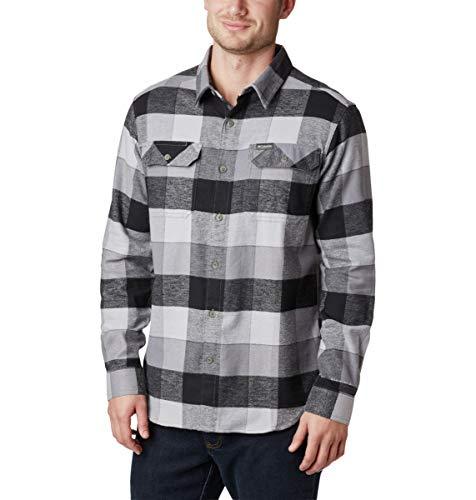 Columbia Herren Flare Gun Stretch Flannel Button Down Hemd, City Grey Big Check, Klein