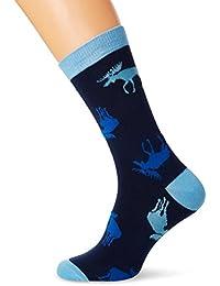 Hatley Crew Socks, Chaussettes Homme, Blue (Blue Moose), Taille Unique