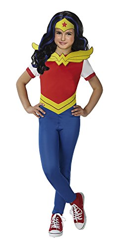 Super Hero Girls Disfraz Wonder Woman y peluca SHG en caja, talla M (Rubie's Spain 630575-M)