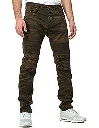 Redbridge Herren Jeans SOLDIER Slim Fit Schnitt Camouflage Destroyed Look