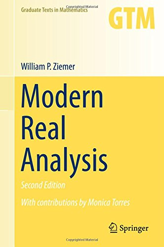 Modern Real Analysis (Graduate Texts in Mathematics) por William P. Ziemer