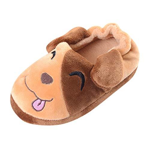 Kinder Baumwolle Hausschuhe Plüsch Hund Haus Hausschuhe Plüsch Hausschuhe Tier Hausschuhe Cartoon Winterstiefel Krabbelschuhe Yuiopmo