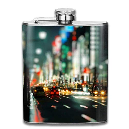 Gxdchfj Light and Shiny Green London Street Portable Stainless Steel Flagon Brandy Wine Pot - London Street Lights