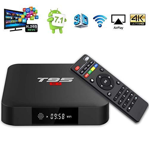 ESHOWEE Android 7.1 TV Box T95 S1 1GB RAM DDR3 8GB ROM Amlogic S905W Quad Core 64Bit 4K HDMI H.265 HD Dekodierung 2.4GHz WiFi Smart TV Box
