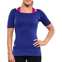 Zaggora Women 'slimming T-Shirt S, Donna, Hot, Blu reale, XXL - Burner Tee
