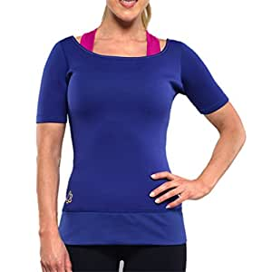Zaggora Women 'slimming T-Shirt S, Donna, Hot, Blu reale, XXL