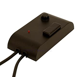 Foot Dimmer with on/off Switch and Night Location LED Black 60-300 Watts