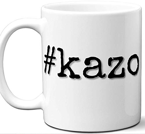 #kazo Gift Hashtag Mug. Cool, Hip, Unique Kazo, Japan City Hash Tag Themed Tea Cup Men Women Fan Lover Birthday Mothers Day Fathers Day Christmas Coworker.