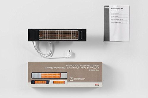 AEG Terrasssen-Heizstrahler IR Premium 1500 W IP44 A, hocheffiziente Qualitäts-Goldröhre, anthrazit, 234792 - 3