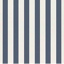 papel pintado bloques rayas blanco azulcm x mpapel pintado