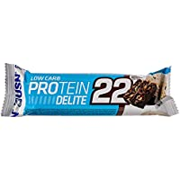 USN Low Carb and High Protein Delite 22 Bar, Chocolate Brownie, 60 g - Pack of 12