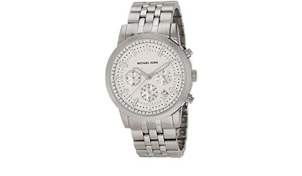 56938437eb76 Buy Michael Kors Men s MK8072 Silver Knurl Chronograph Watch Online at Low  Prices in India - Amazon.in
