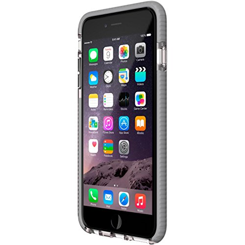 Tech21 Evo Mesh Schutzhülle Case Widerstandsfähig Schlagfest mit FlexShock Aufprallschutz für iPhone 6 Plus/6S Plus - Transparent/Grau (Tech 21 Evo Plus Mesh 6)