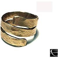 anello ottone martellato artigia