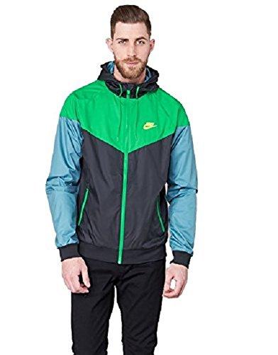 Nike 727324-011 Veste Homme, Noir/Stadium Green/Electrolime, FR : S (Taille Fabricant : S)