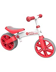 Yvolution Velo Kids' Kids Bike Red, aluminium frame, 1 speed lightweight but strong aluminium frame rubber over-mould wheels