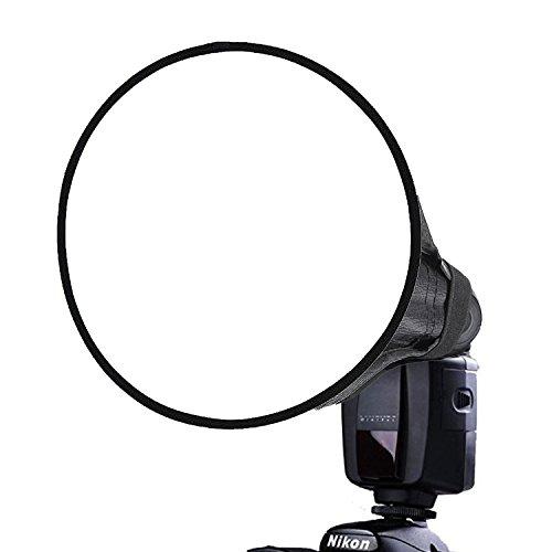 CamRepublic Professional Universal Rund Softbox Speedlite Speedlight Blitzschuh Blitz Diffusor für Blitzgeräte, Universal-Halterung für...