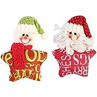 BESTOYARD 2 unids de Navidad de Juguete de Felpa Colgando Santa Claus muñeco de Nieve muñeca árbol de Navidad Adornos Colgantes