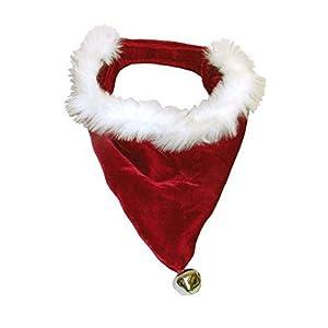 Cute-Soft-Designer-Santa-Dog-Bandana-for-Christmas-with-Bell