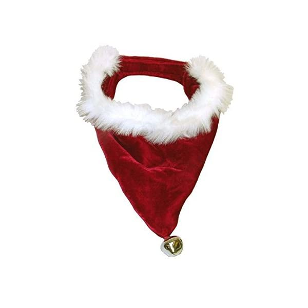 Cute-Soft-Designer-Santa-Dog-Bandana-for-Christmas-with-Bell