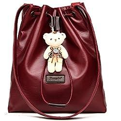 Aoligei Solo hombro de la señora bolso bandolera suave cara mano PU pequeñas de gran capacidad el oso cubo chica bolsa