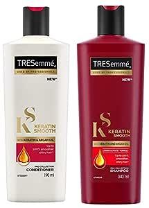 TRESemme Keratin Smooth Conditioner, 190ml & TRESemme Keratin Smooth Shampoo, 340ml