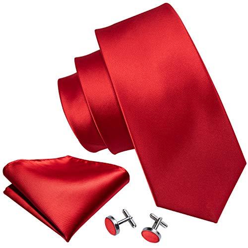 Barry.Wang - Juego corbatas hombre gemelos pañuelo