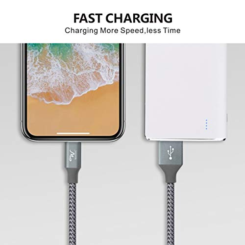 - 419SZ5I91lL - Wayona Nylon Braided USB Syncing and Charging Cable Data Cord Compatible with iPhone Xs/X/8/7/6s/6/5s/5/SE, iPad Pro/Air/Min