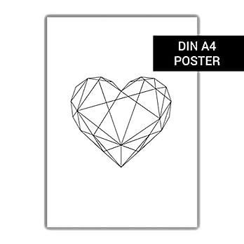 Schwarzes Herz DIN A4 Poster