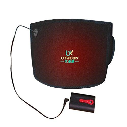 Comaie® Wärme-Gürtel mit Rücken-Therapie für beheizte 7,4V, wiederaufladbar, batteriebetrieben, zur Schmerzlinderung durch Warmer mit Bandage-Moxibustion Physiotherapie mit Leib Uterus temperat