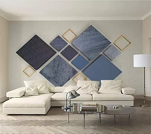 Lxsart Benutzerdefinierte 3d Tapete Stereo Wandbild Stoffmuster 3d Diamant Mosaik Nordic geometrische TV Hintergrund Tapete Wandbild-450cmx300cm -