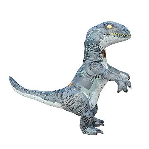 Schwanz Rex Kostüm T - TIKENBST Dinosaurier Aufblasbare Set Erwachsene Kind T-Rex Kostüm Halloween Aufblasbare Kleidung (insgesamt 3 2 M Einschließlich Schwanz)