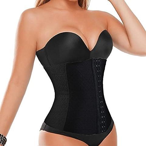 sypure (TM) cinturón de recuperación postparto abdomen vientre elástico cintura Entrenador Cinchers Body Shapers Cintura Adelgazamiento Vientre banda para mujer # 53, negro,