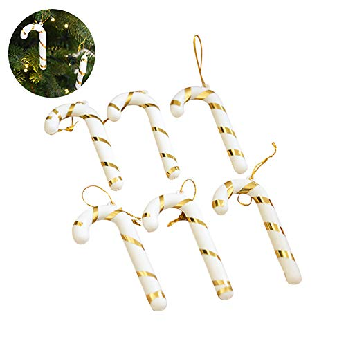 (6PCS / Pack Weihnachten Hanging Cane Yard Sign Außen Rasen Dekorationen Weihnachten Rasen Dekorationen Hanging Candy Canes)