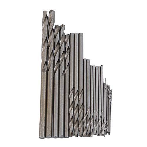 Ellepigy 25 Stücke 0.5-3.0mm Micro Twisted Bohrer Set Metall Bohrer Spiralbohrer Kit Professionelle Repair Tool, Silber (Bohrer Twisted)