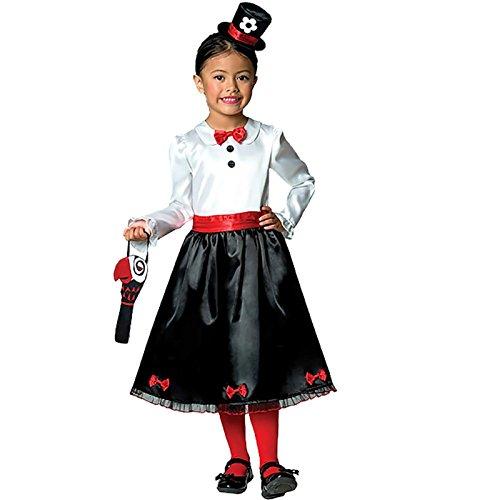 (Viktorianische Nanny-Kindermädchen-Kinderkostüm 5-6 Jahre / 110)