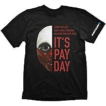 Payday 2 T-Shirt Wolf Mask, Medium (Electronic Games) [Importación Inglesa]
