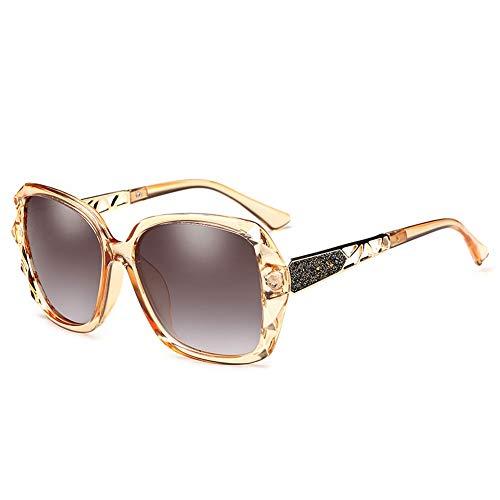 Thirteen Polarisierte Sonnenbrille Weibliches Großes Gesicht Rundes Gesicht Anti-UV-Sonnenbrille Mit Großem Gestell, Kann Zum Dekorieren Von Brillen Zum Fahren Auf Reisen Verwendet Werden.
