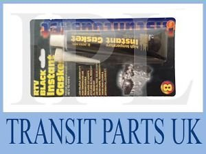 Transit Parts UK Schwarz Sofort Dichtung Maker groß 100 gm Tube High Temp RTV Silikon Gummi (Rtv-gummi)